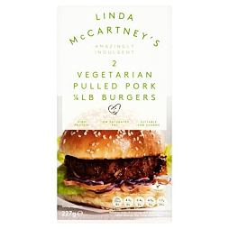 Linda McCartney's 2 Vegetarian Pulled Pork 1/4LB Burgers 227 g