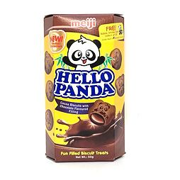 Hello Panda Cocoa Biscuits with Chocolate 50 g