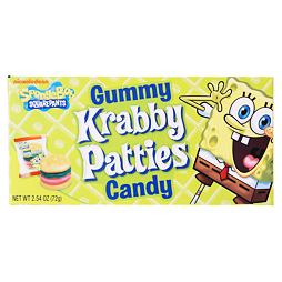 Spongebob Squarepants Krabby Patties Gummy Candy 72 g