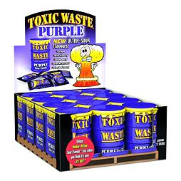 Toxic Waste Purple Sour Candy 42 g Celé Balení 12 ks