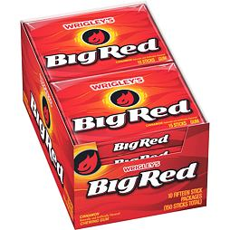 Big Red Cinnamon Gum 15 ks 41 g 10 ks Celé Balení