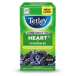 Tetley Super Green Tea Blueberry & Blackberry 20 ks 40g