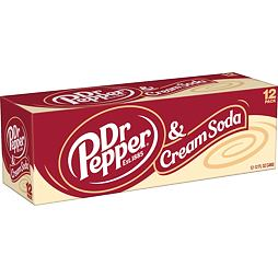 Dr Pepper Cream Soda 355 ml 12 ks Celé Balení