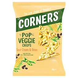 Corners Pop Veggie Crisps Sour Cream & Onion 85 g