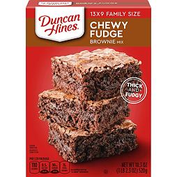 Duncan Hines Chewy Fudge Brownie Mix 520 g