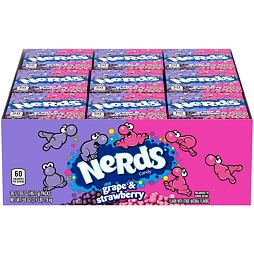 Nerds Strawberry & Grape 46.7 g 36 ks Celé Balení