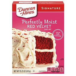 Duncan Hines Signature Perfectly Moist Red Velvet Cake Mix 432 g
