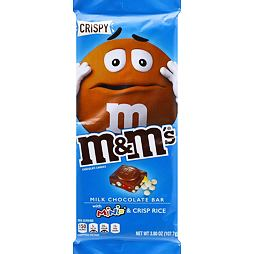 M&M's Crispy Milk Chocolate Bar With Minis & Crisp Rice 107.7 g