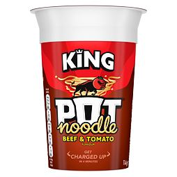 King Pot Noodle Beef & Tomato 114 g