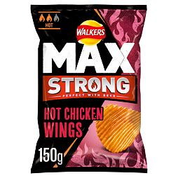 Walkers Max Strong Hot Chicken Wings 150 g