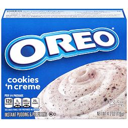 Jell-O Oreo Cookies'n Creme Instant Pudding & Pie Filling 119 g