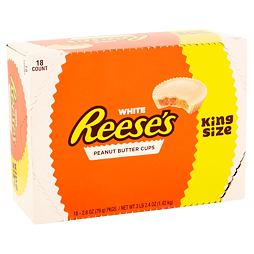 Reese's 4 White Peanut Butter Cups King Size 79 g Box of 18