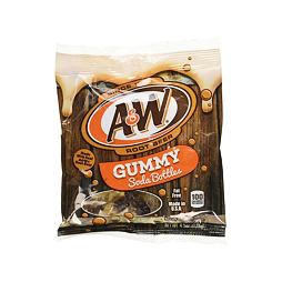 A&W Root Beer Gummy Soda Bottles 128 g