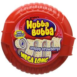 Hubba Bubba Snappy Strawberry Mega Long 56 g
