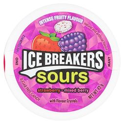 Ice Breakers Sours Strawberry Mixed Berry 42 g