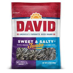 David Jumbo Sunflower Seeds Sweet & Salty 149 g