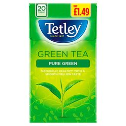 Tetley Pure Green Tea 20 ks 40 g PM