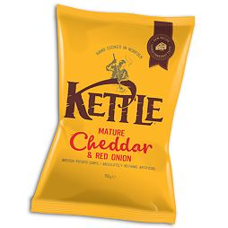 Kettle Mature Cheddar & Red Onion 150 g