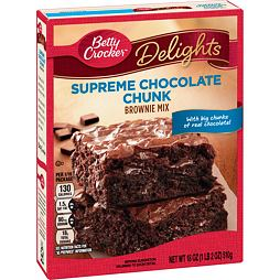 Betty Crocker Supreme Chocolate Chunk Brownie Mix 510 g