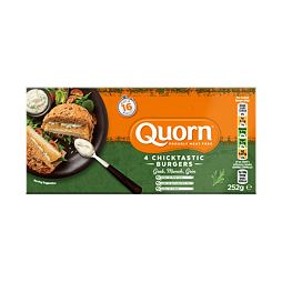 Quorn 4 Chicktastic Burgers 252 g