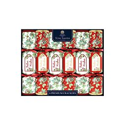 Tom Smith Festive Wishes 6 Premium Christmas Crackers