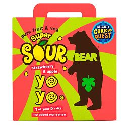 Bear Yoyo Sours Strawberry & Apple Pack 5x20 g