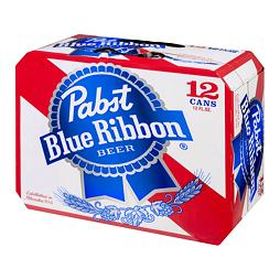Pabst Blue Ribbon Beer 355 ml Pack of 12