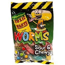 Toxic Waste Worms Sour & Chewy Jellies 142 g