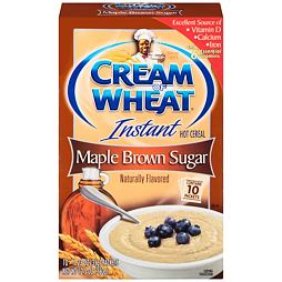 Cream of Wheat Instant Maple Brown Sugar Hot Cereal 350 g