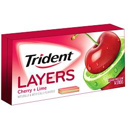 Trident Layers Cherry & Island Lime 14 ks 35 g