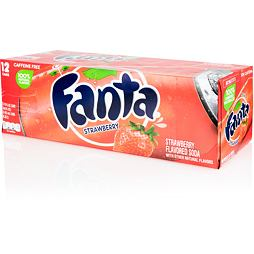 Fanta Strawberry 355 ml Celé Balení 12 ks