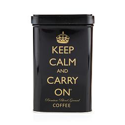 Keep Calm and Carry on Premium Blend Ground Coffee Black Tin 113 g