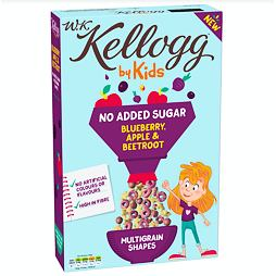 Kellogg's by Kids Multigrain Cereal Blueberry, Apple & Beetroot No Added Sugar 350 g