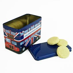 London Union Jack Blue Bus English Shortbread Biscuits Tin 100 g