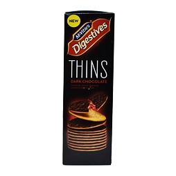 McVitie's Digestives Thins Dark Chocolate 180 g