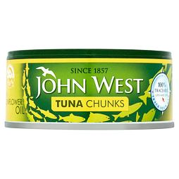 John West Tuna Chunks in Sunflower Oil 145 g