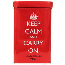 Keep Calm And Carry On Red Tin English Breakfast Tea 40 ks 125 g