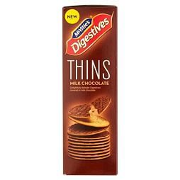 McVitie's Digestives Thins Milk Chocolate 180 g