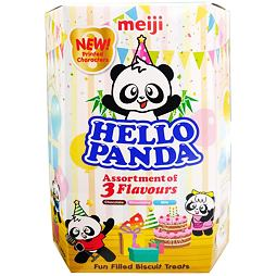 Meiji Hello Panda Chocolate, Strawberry & Milk Box 260 g
