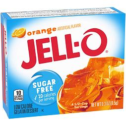 Jell-O Sugar Free Orange 8.5 g