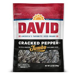 David Jumbo Sunflower Seeds Cracked Pepper 149 g