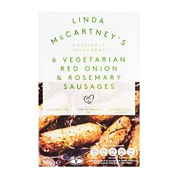 Linda McCartney's 6 Vegetarian Red Onion & Rosemary Sausages 300 g