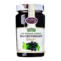 Stute No Sugar Added Blackcurrant Extra Jam 430 g