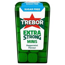 Trebor Extra Strong Sugar Free Minis Peppermint 12.6 g