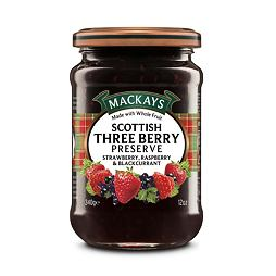 Mackays Scottish Three Berry Preserve 340 g