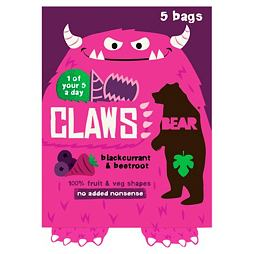 Bear Claws Blackcurrant & Beetroot 5x18 g
