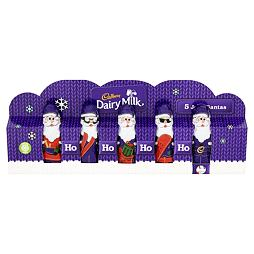 Cadbury Dairy Milk 5 Jolly Santas 75 g