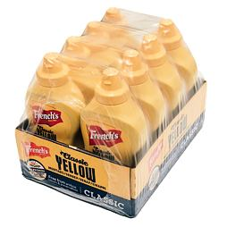 French's Classic Yellow Mustard 397 g Pack of 8