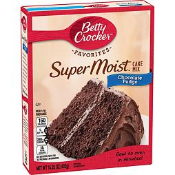 Betty Crocker Chocolate Fudge Super Moist Cake Mix 432 g