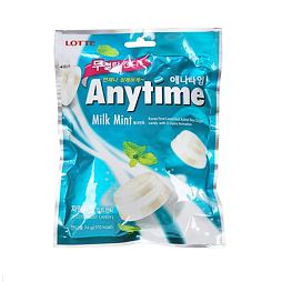 Lotte Anytime Milk Mint 74 g